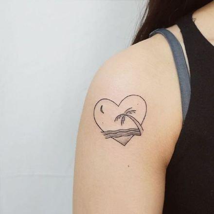 小清新纹身-在夏天露出自己可爱的小清新纹身图案