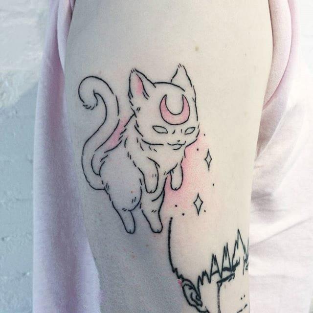 创意纹身图案-黑色线条创意有趣精致可爱的纹身图案