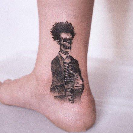 黑灰纹身图案-可爱又精致的黑灰小纹身图片