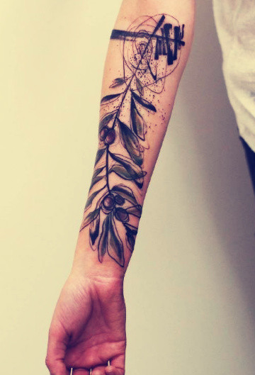 水彩纹身图案-抽象感觉的水彩纹身图片