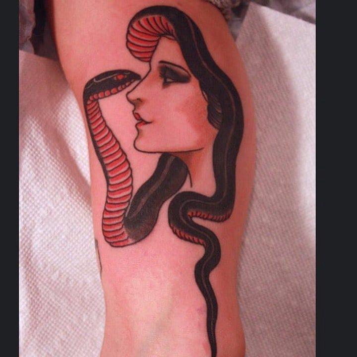 传统纹身图案-10张身体各个部位彩绘纹身人物和动物纹身图案的传统纹身图案