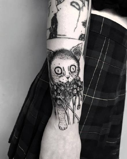 一组脑洞很大的创意暗黑纹身图案9张