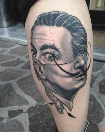 一组分裂抽象风格的人像纹身图案作品