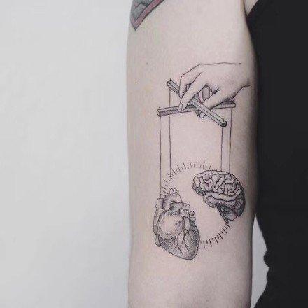一组适合天秤座的小清新纹身作品欣赏