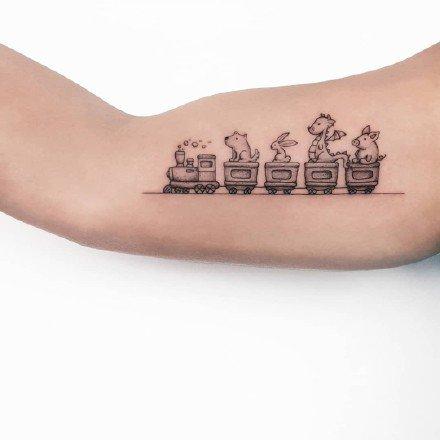 很可爱的9张童趣小清新纹身图片