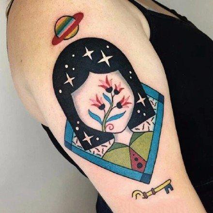 很有创意的一组彩色纹身作品图