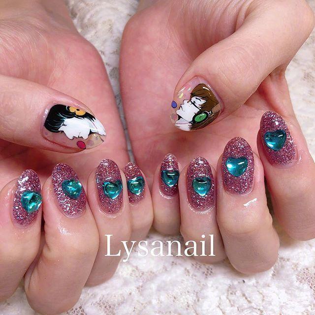 日本Lysa nail设计的少女风可爱美甲参考