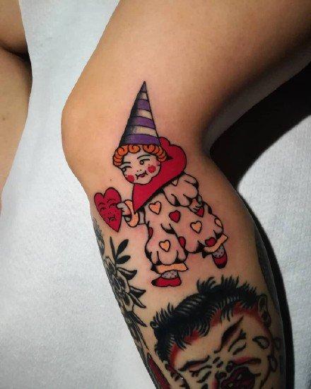 18张个性的小丑图案纹身欣赏