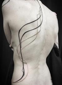 17张简约又好看的一组线条纹身图案