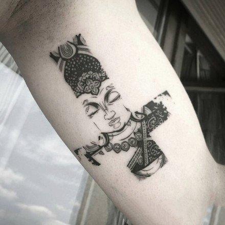 9想很有创意的一组黑灰点刺纹身图案
