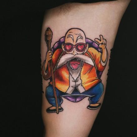 龟仙人的一组动漫纹身作品欣赏