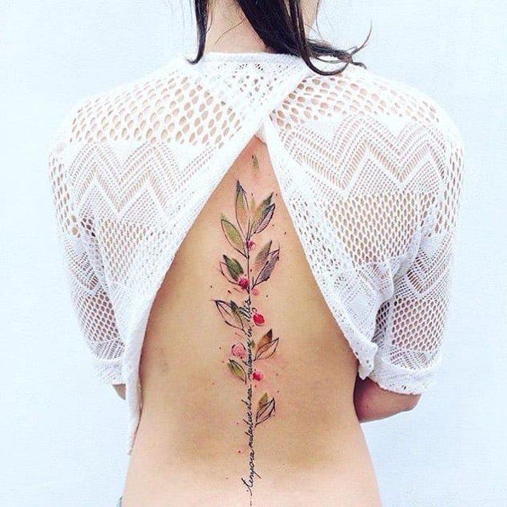 植物纹身图案 多款彩绘纹身创意和小清新纹身植物图案