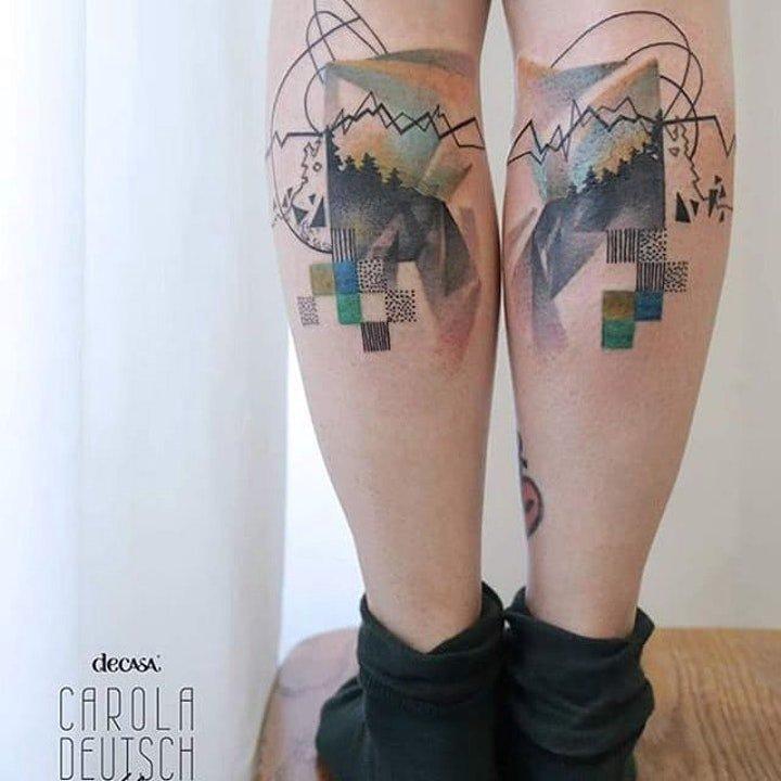 水彩纹身图片  11款唯美的水彩晕染彩绘纹身图案
