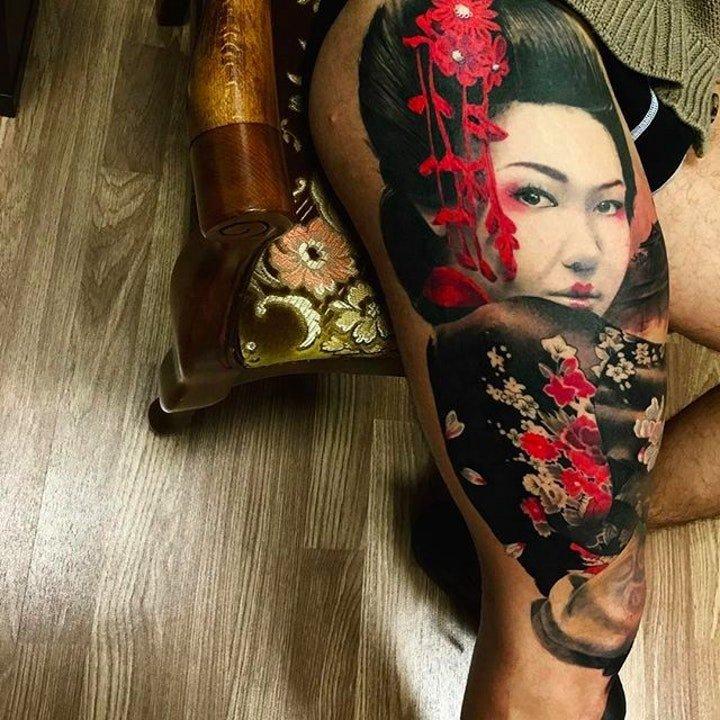 日本艺妓纹身图案 10款十分多彩的日本艺妓纹身图案