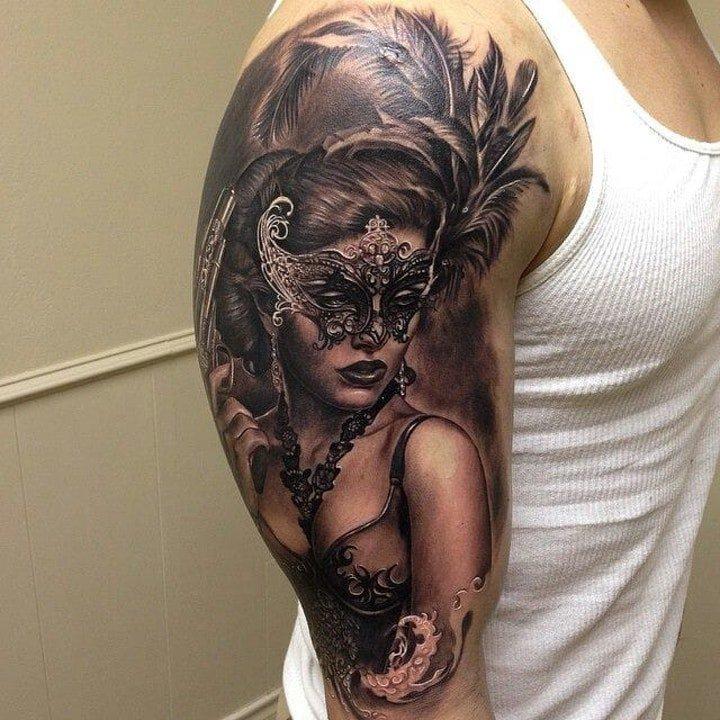 面具纹身图案 10组十分奇特怪异的面具纹身图案
