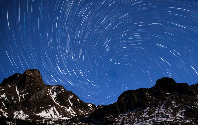 满天星轨自然风景图片(12张)