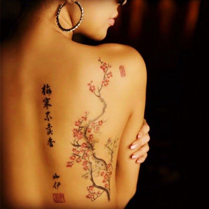 中国风纹身图案 唯美的水墨风格中国风纹身图案
