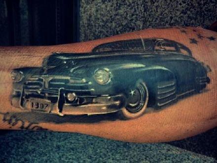 老爷车纹身 9款复古风格的机车老爷车纹身图片