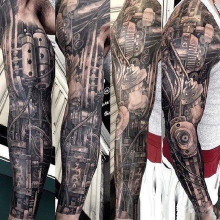 3d机械臂纹身 9组狂拽酷炫的立体3d机械臂纹身图案