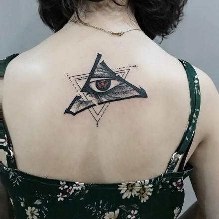 一组动漫火影忍者中的写轮眼纹身图片