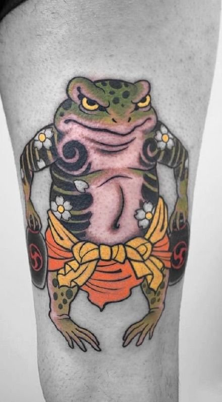 日式青蛙主题的9款传统纹身图片