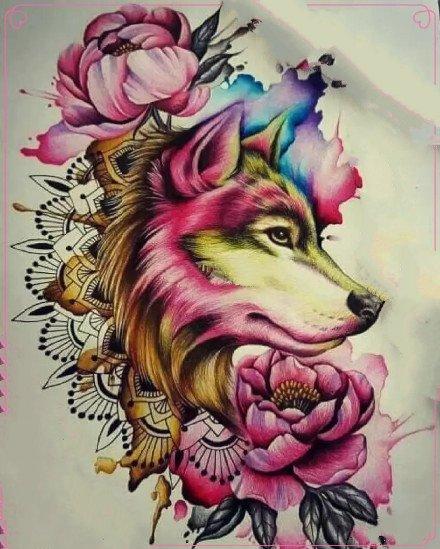 狼头刺青 9款狼头主题的纹身手稿和作品赏析