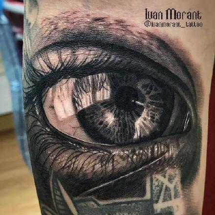 眼睛纹身 超逼真的几款写实眼3d睛纹身图案