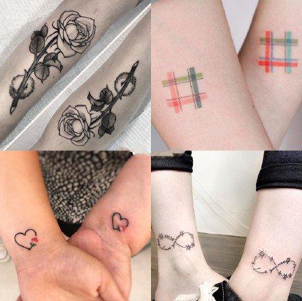 500到1000元左右情侣纹身图案参考