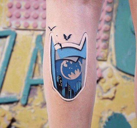 贴纸风效果的9款纹身作品图片