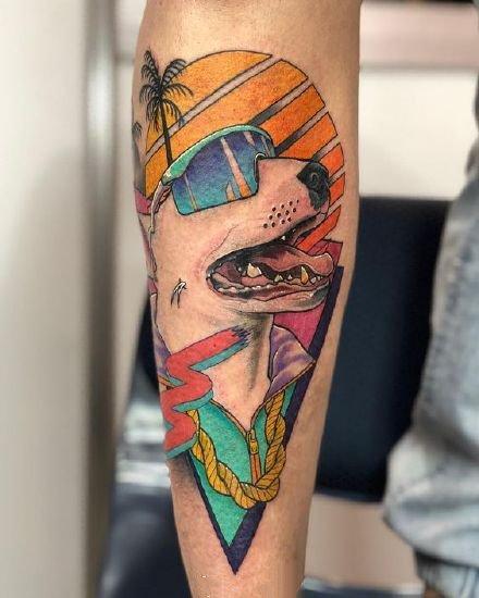 一组彩绘创意纹身图案欣赏