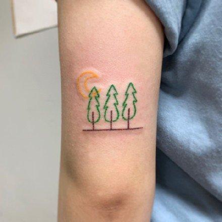 一组小清新夏日风情纹身图案