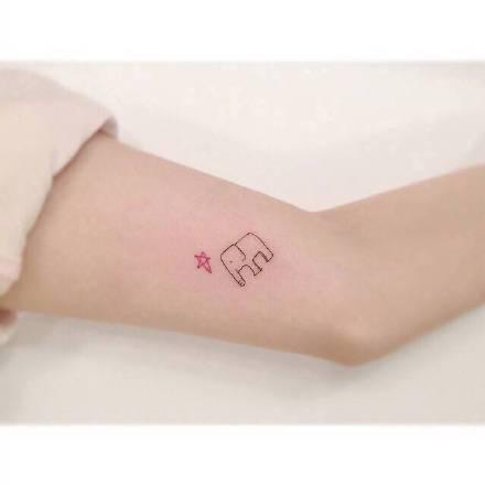 一组小清新可爱风纹身图案