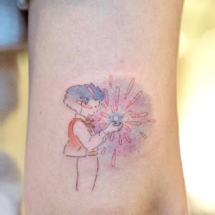 适合女孩子的纹身 有点可爱