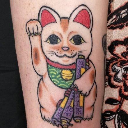 一组传统风格的日式小图纹身