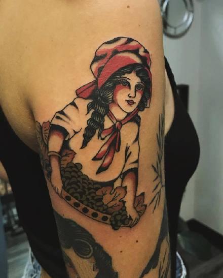 一组具有特色的oldschool纹身图案