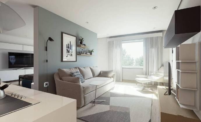 68㎡小户型家居装修设计,干净清新得就像水晶