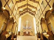 古典美婚礼教堂高清图片
