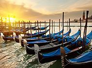 水上都市威尼斯梦幻唯美夜景图片