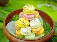 西式糕点图片 色彩斑斓的马卡龙