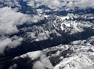 西藏雪山风景图片洁白梦幻