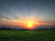 迷人的夕阳美景壁纸