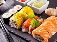 美味的日本海鲜寿司图片