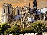 巴黎圣母院教堂壁纸图片大全
