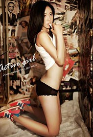 台湾美女蕾丝人体艺术照片