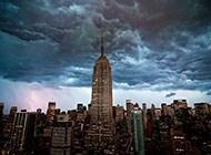 纽约帝国大厦的天空图片