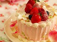 奶油水果蛋糕图片香甜诱人