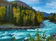 新疆喀纳斯唯美风景图片