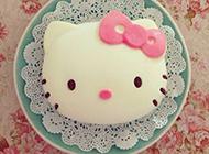 可爱hello kitty卡通精美蛋糕图片