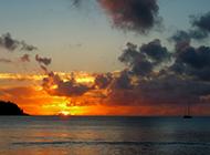 黄金海岸日出日落唯美风景图片