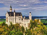 巴伐利亚新天鹅堡高清风光壁纸